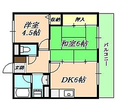 瑞ヶ丘マンション[1階]の間取り
