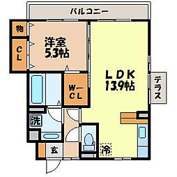 長崎県長崎市古賀町の賃貸アパートの間取り