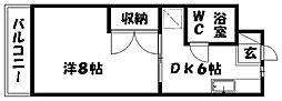 サードアベニュー佐鳴台Ⅱ[2階]の間取り