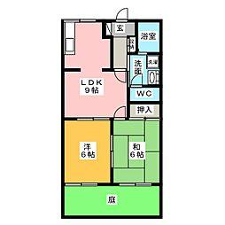 パストラルハイム[1階]の間取り