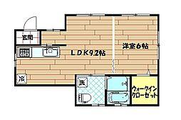 青木アパート[1階号室]の間取り