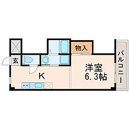 ドミトリー甲子園[2階]の間取り