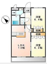 ルーエンハイム[2階]の間取り