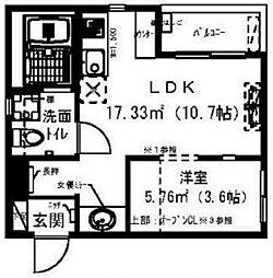 レイディエンス新松戸[301号室号室]の間取り