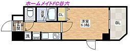 プレサンス心斎橋ザ・スタイル[12階]の間取り