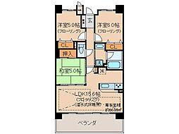 京都府宇治市六地蔵奈良町の賃貸マンションの間取り