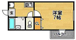 大阪府大阪市東淀川区西淡路4丁目の賃貸マンションの間取り