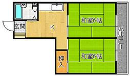 第一平井ハイツ[2階]の間取り