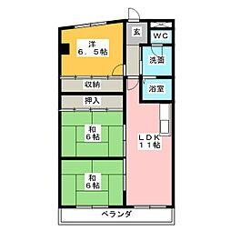 スカイハウスII[3階]の間取り