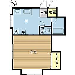 新潟県新潟市東区中山5丁目の賃貸アパートの間取り