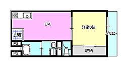 マックスビル 3-B[B号室]の間取り