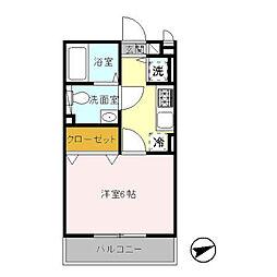 ミントハウス(人気の大和ハウス施工)[201(角住戸)号室]の間取り