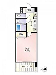 JR山陽本線 広島駅 徒歩22分の賃貸マンション 2階1Kの間取り