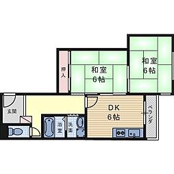 リケン氷室[3階]の間取り