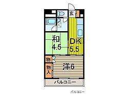 秀和川口青木町レジデンス[6階]の間取り