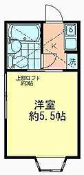 東伏見NO18プラザUSA[201号室]の間取り