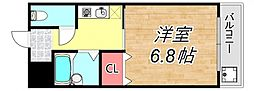 クレアール立花[1階]の間取り