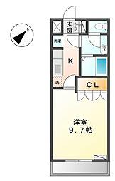 ティープラントI[2階]の間取り