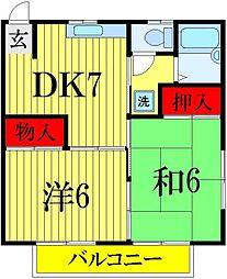 千葉県船橋市前原東3丁目の賃貸アパートの間取り