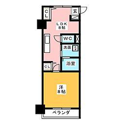 アルファレガロ西古松[11階]の間取り