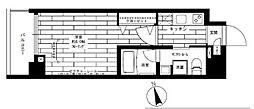東京メトロ日比谷線 入谷駅 徒歩6分の賃貸マンション 4階1Kの間取り