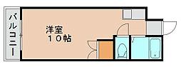 アカデミックハイツNO.1[1階]の間取り