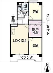 レジデンス蟹江[3階]の間取り
