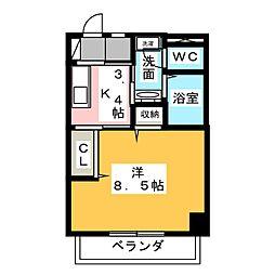 Steeple Yamanote[1階]の間取り