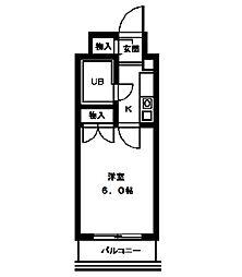 マツキビル[5階]の間取り
