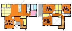 [一戸建] 岡山県倉敷市玉島上成 の賃貸【/】の間取り