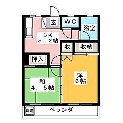 第五松コーポ[1階]の間取り