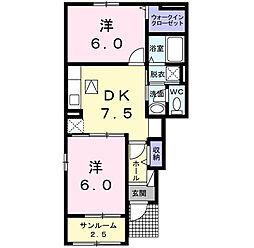 ボヌールII[1階]の間取り