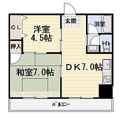 サンキュービル[7階]の間取り