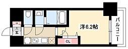メイクス矢場町 12階1Kの間取り
