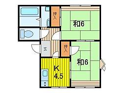 パークハウス三和[201号室]の間取り
