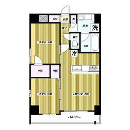 仮 高島平1丁目 大和ハウス施工 新築賃貸マンション[4階]の間取り