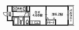 大阪府和泉市伯太町4丁目の賃貸マンションの間取り