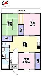 上後藤(永井)マンション[202号室]の間取り