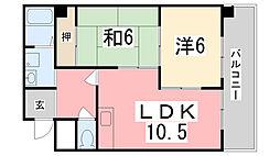 ロイヤルコーポ東雲[701号室]の間取り