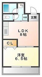 ベル甲子園[2階]の間取り