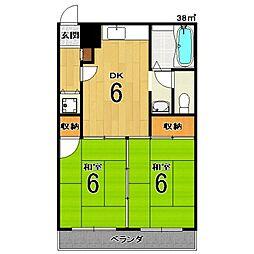 サンライブマンションI[3階]の間取り