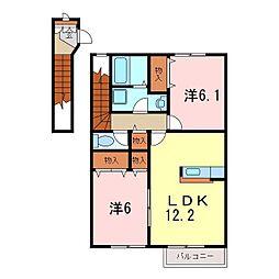 ローズ・アベニュー II[2階]の間取り