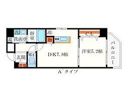クリスタルグランツ新大阪[3階]の間取り