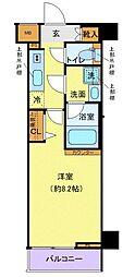 西武新宿線 下落合駅 徒歩4分の賃貸マンション 1階1Kの間取り