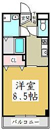 ハイムフローラ[4階]の間取り