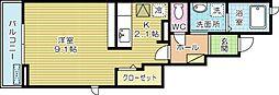 ウエストアヴェニュー A棟[1階]の間取り