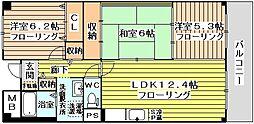 カーム淀川[4階]の間取り