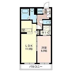 マストライフ松戸I[2階]の間取り