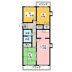 グランドメゾン勝川[4階]の間取り