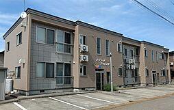 秋田県大仙市戸地谷字川前の賃貸アパートの外観